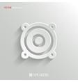 Audio speaker icon - white app button vector