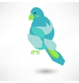 Stylish abstract bird of leaves icon vector