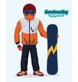 Snowboarding design vector