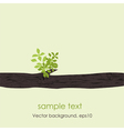 Card with stylized tree vector