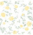 Seamless texture of pastel yellow roses for vector