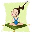 Meditating girl vector