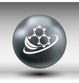 Natural components icon molecule science nature vector