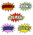 Comic book balloons vector