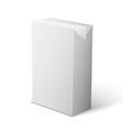 Milk juice beverages carton package blank white on vector