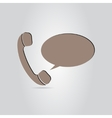 The handset of the phone as a button vector