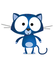 Blue cat vector