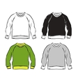 Abstract sweatshirts set sketch for your design vector