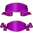 Violet ribbon collection vector