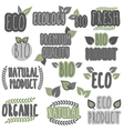 Eco bio organic natural vector