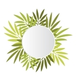 Round banner with leaves vector