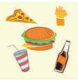 Fast food elements set vector