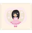 Sweet little girl - card vector