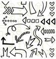 Monochrome arrow seamless vector