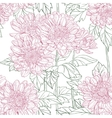 Seamless pattern chrysanthemum vector