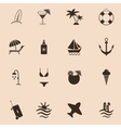 Set of travel and beach icons vector