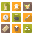 Color flat style chinese tea ceremony equipment vector