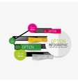 Minimal line design office web infographics vector