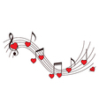 Romantic music background vector