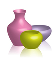 Colorful vases vector