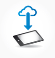 Cloud app icon on mobile phone vector