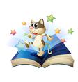Dancing cat book vector