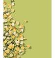 Spring time theme postcard vector