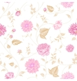 Seamless texture of pink roses for textiles vector