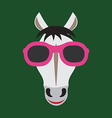 Horse glasses vector