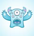 Surprised blue monster vector