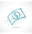 Brush paper dollar icon money vector