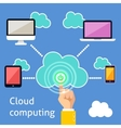 Cloud computing infographic vector