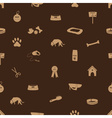 Dog icons seamless brown pattern eps10 vector