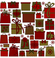 Christmas presents collection vector