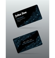 Futuristic business card vector