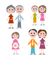 Family members isolated on white background vector