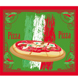 Pizza grunge card vector