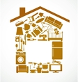 House set vector