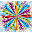 Background with arrows explosion vector