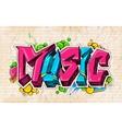 Graffiti style music background vector