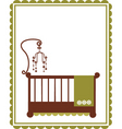 Baby crib vector