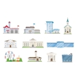 Public city buildings set vector