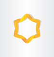 Yellow star symbol design vector