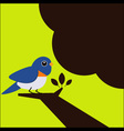 Little bird on the tree vector