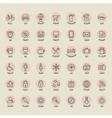 Retro vintage style icon collection vector