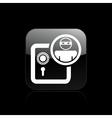 Thief bank icon vector