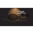Tennis racket and slogan vector