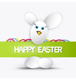 Happy easter theme vector