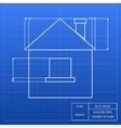 Blueprint of a house design vector