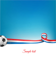 France background with soccer ball vector